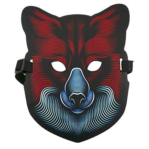 YUELAI LED Maske Party Musikfestival Leuchten Eva Material Maske Cosplay Kostüm Halloween Karneval Weihnachten Festival Bar - Treiber Sexy Kostüm