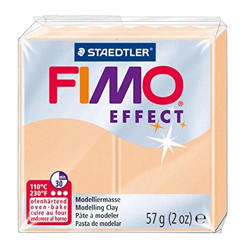 (Staedtler 8020-405 - Fimo Effect Normalblock, 57 g, pfirsich)