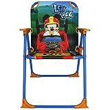 Klappstuhl Kinder mit Motivauswahl - Campingstuhl - Kinder Standstuhl - Kinderstuhl - Kinder Gartenstuhl (Mickey Racers)