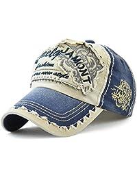 Tioamy Baseball Kappe Basecap Unisex Einstellbare Retro Baseball Hut  Freizeit Cap modischste Cotton Cap Schreiben Outdoor Hut für… 3eb3a65a24
