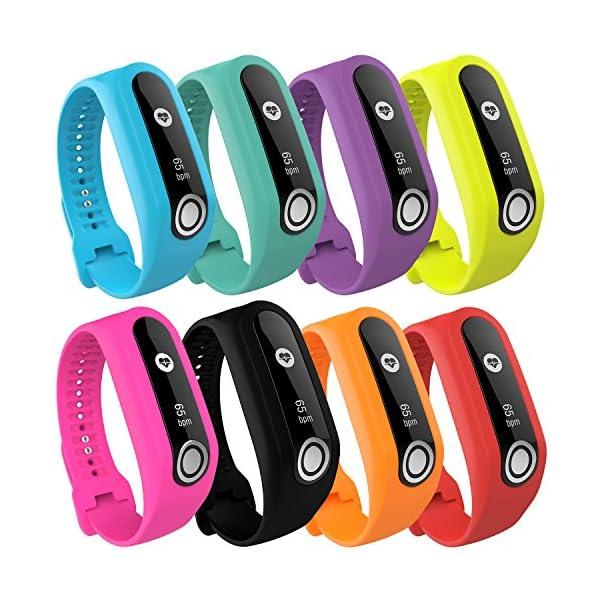 TomTom Touch Correa de reloj de silicona, correa de repuesto para TomTom Touch Cardio, rastreador de actividad deportiva… 4