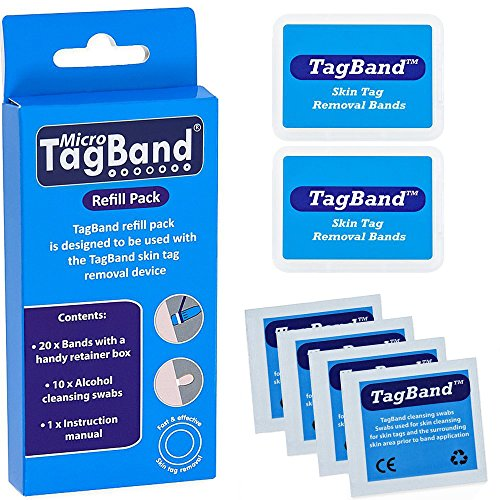 Band Pack for Skin Tag Remover Device by TagBand ()