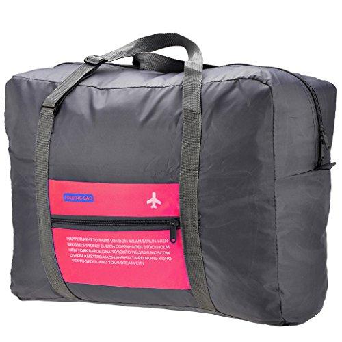 Mangostyle faltbare Reisetasche,32L Polyester Kleidertaschen Faltbare Reise-Gepaeck Duffel Taschen Leichtgewicht Sporttaschen fuer Sports Turnhalle Urlaub Rot