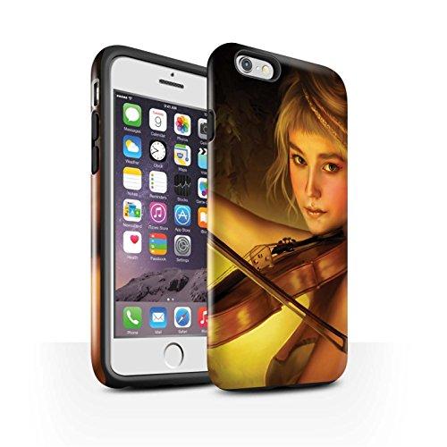 Officiel Elena Dudina Coque / Brillant Robuste Antichoc Etui pour Apple iPhone 6 / Chanson de Fleurs Design / Réconfort Musique Collection Beauté/Violon