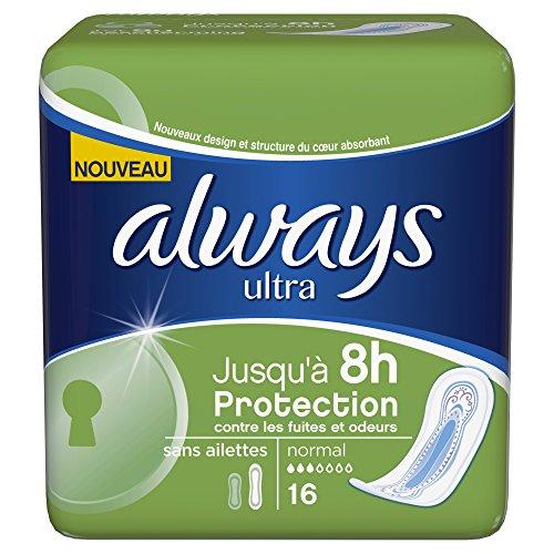always-serviettes-hygieniques-normal-sans-ailettes-x-16-lot-de-4