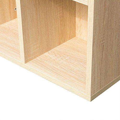 DFHHG® Estantería Estantería Estantería Estantería Tablero de madera maciza Roble Cinco Rejilla Siete Cuadrícula durable ( Tamaño : 50.2*23.8*106cm )