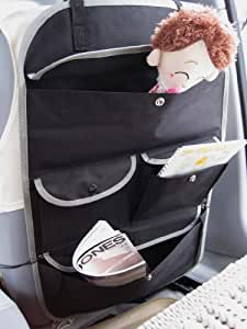 CAR SEAT ORGANISER FOR REAR OF DRIVER OR PASSENGER SEAT