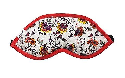 Kanyoga Imprimé Suede & rayon Coussin de méditation Imprimé Eye Mask(25cm x 10cm), 1 Pièce