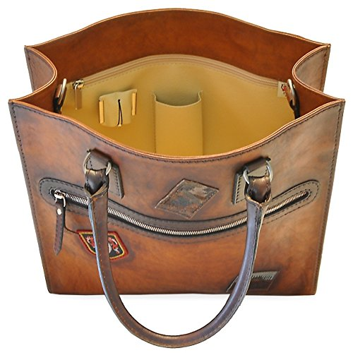 Pratesi Amber sac à main - B179 Bruce (Bleu) Cognac