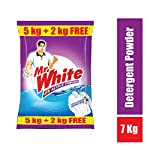 Mr. White Detergent Powder - 5 kg with Free 2kg