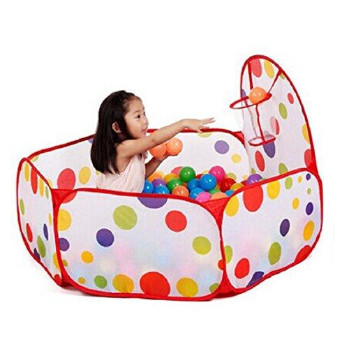 Vovotrade® Pop up Hexagon Pois bambini di giocare palla Pool tenda Carry Tote giocattolo +50 palle