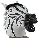 Sannysis® Máscara de Látex Zebra Animal Costume Proposición de Halloween