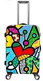 Koffer, Reisegepäck, Trolley by Heys - Premium Designer Hartschalen Koffer - Künstler Britto Butterfly Love Koffer mit 4 Rollen Medium