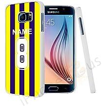 Borussia Dortmund colores camiseta de fútbol personalizada, cualquier nombre, cualquier número Snap-on Hard Back Case Carcasa para Samsung Galaxy S6Por iPhone R Us®
