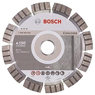 Bosch Professional Diamanttrennscheibe Best für Concrete, 150 x 22,23 x 2,4 x 12 mm, 2608602653