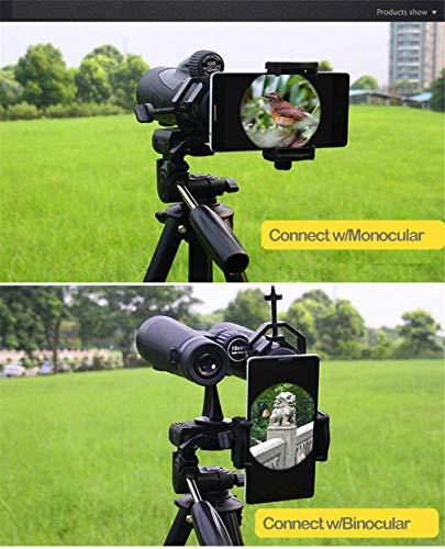 Boblov cm-4teléfono móvil adaptador para compatible con diámetro de 25mm-48mm prismáticos/Monocular/telescopio/microscopio/Caza Alcance/astrofotografía para Samsung/iphone/Galaxy/huawei y otros Smart Phone