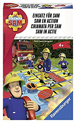 Ravensburger - 234301 - Jeu de Course - Fireman Sam - Sam en Action