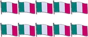 VALICLUD Spille Fornello Vernice Ferro Abbigliamento Spilla Bandiera Italiana Spilla Spille Distintivi per La Festa del Festival Raccolta 10 Pz