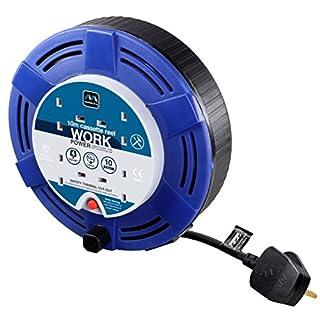 masterplug mct1010/4bl 10 m 4 Socket Cassette Reel - Blue