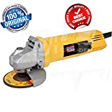 #4: Generic DW801 Heavy Duty 850W 11000Rpm 100Mm Angle Grinder with Free Bosch Grinding and Cutting Wheel, Yellow