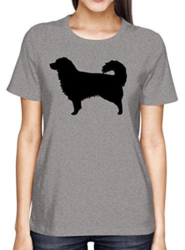 Australian Shepherd #1 Premium T-Shirt | Hunde | Dogs | Herrchen und Frauchen | Frauen | Shirt, Farbe:Graumeliert (Grey Melange L191);Größe:M (Australian T-shirt Dog Shepherd)