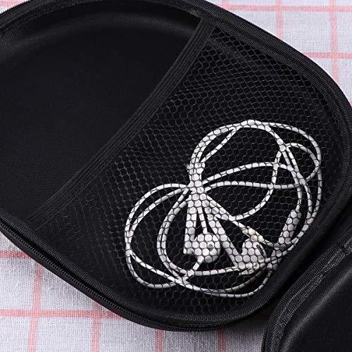 LEORX Portable Kopfhörer Tasche Etui Cover Box für Sony MDR-ZX100 ZX110 ZX300 ZX310 ZX600 Kopfhörer (schwarz) - 9
