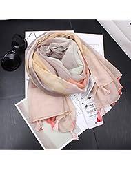Europa y los Estados Unidos mujer Gucci Bufanda Bufanda Pañuelos y Bufandas de Verano de algodón fino estilo folk Arte Floral, Rosa
