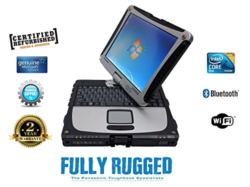 Panasonic Toughbook CF-19 4GB RAM 500GB HDD Windows 7 Laptop Rugged and WaterResistant with Touchscreen
