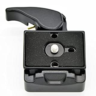 Andoer® Camera 323 Quick Release Clamp Adapter + Quick Release Plate Compatible for Manfrotto 200PL-14 Compat Plate
