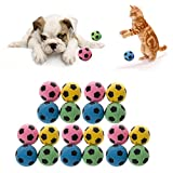 Jiamins Giocattolo Palla Giocattoli per Gatto Giocattolo Sfera di Gatti Palline di Schiuma Giocattoli, Confezione da 20