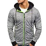Manadlian Herren Sport Jacke Herbst Winter Hoodies Yoga Kleidung Postleitzahl Beiläufig Lange Ärmel Schlank Passen Tasche Mantel