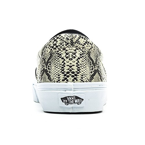 Vans Herren Classic Slip On Sneaker Plata (Leather/Snake)