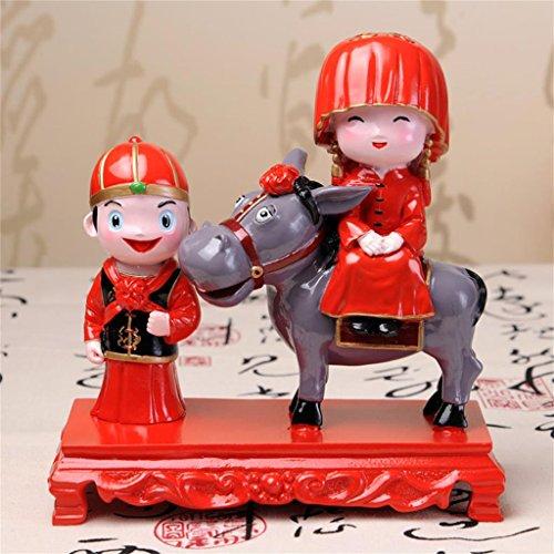 DELLT- casa cinese stanza di unione ornamenti decorativi in   stile cinese sposa rosso regali di nozze bambola regalo di nozze ornamenti decorazioni Figure Decoration