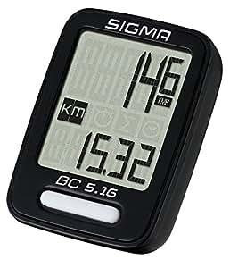 Zubehör 5 Funktionen Sigma Tacho Sigma Sport BC 5.16 Fahrradcomputer mit Kabel