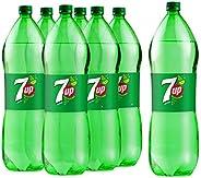 7up Carbonated Soft Drink, Plastic Bottle, 2.25 Litre x 6