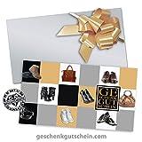 25 Stk. Hochwertige Gutscheinkarten Geschenkgutscheine + 25 Stk. Kuverts + 25 Stk. Schleifen für den Schuhfachhandel, Mode SH1233, LIEFERZEIT 2 bis 4 Werktage!