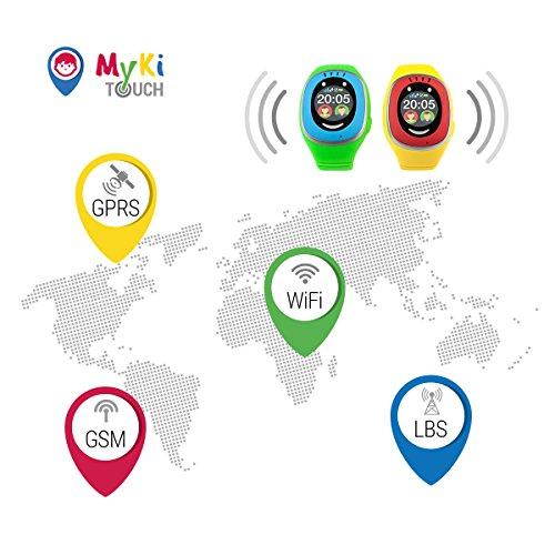 MyKi GPS Uhr Kinder, Smartwatch mit GPS Tracker, Handy Ortung, SOS und App Tracking in Deutsch (Blau) - 6