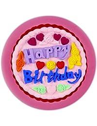 Auket Fête d'anniversaire Fondant Savon SUGARCRAFT Gâteau décoration de biscuits de moule de silicone # 138