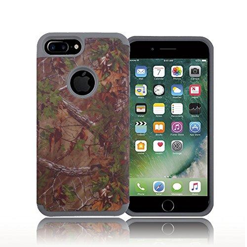 Camoflauge Fall (TCD für Apple iPhone 7Hybrid Jagd Camo Fall [High Impact] Cover Mehrere Schichten [Harte Außenschicht, Weiche Innere Schicht] inkl. [Gratis Displayschutzfolie und Eingabestift], Grau)
