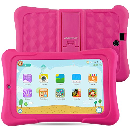 Alldaymall Tablet De niño de 7 pulgadas 16GB IPS FHD1920x1200 (64-Bit Quad Core, Android 5.1, Wi-Fi, Blu …