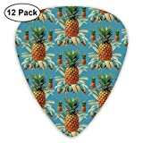 Pineapplestropical Beach Hawaii Tropical Blue_1699 Classic Celluloid Picks, 12-Pack, For Electric Guitar, Acoustic Guitar, Mandolin, And Bass