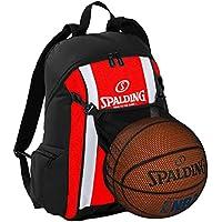Spalding–Mochila de baloncesto Rojo/Negro incl. Ball Red