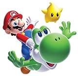 RoomMates Wandsticker für Kinderzimmer Nintendo Super Mario Galaxy 2, Mario und Yoshi, wiederverwendbar