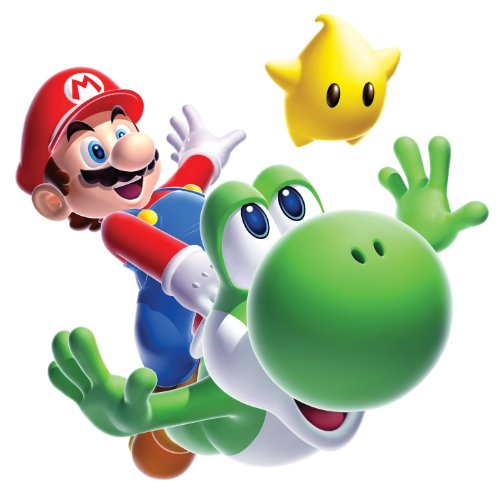 Stickers Muraux Geant Mario Galaxy Yoshi