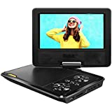 APEMAN Tragbar DVD Player Auto 7,5''mit 4 Stunden Akku Drehbarer Display Kinder CD Player Unterstützt SD/USB/AV Out/IN Spiele Joystick (schwarz)