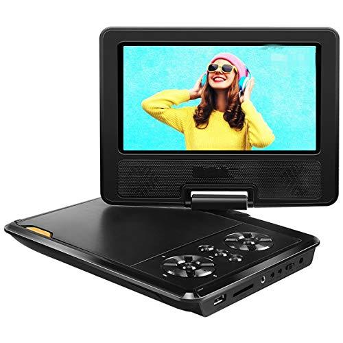 APEMAN 7.5' Lettore DVD Portatile per Bambini con Schermo Rotante Incassato la Batteria Ricaricabile la Carta di SD e USB Formato di Trasmissione Diretta AVI/RMVB / MP3 / JPEG