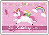 Kartenuniversum Einhorn 12er-Set Unicorn Einladungskarten Kindergeburtstag Einladung Girls Mädchen Kinder Rosa Geburtstag Lustig Witzig Ausgefallen Girls Teens Rosa Pferd Pony