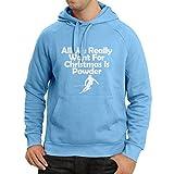 Sweatshirt à capuche manches longues Tout ce dont nous avons besoin pour Noël, c'est Snow - cadeaux du Père Noël (Medium Bleu Multicolore)