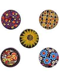 Morella–® de mujer Click Button Set 5Unidades Botones de presión Multicolor y colores Flores Mundo
