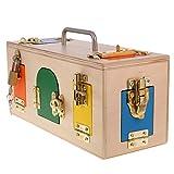 Gazechimp Holz Montessori Material Lock Boxen Verschluss Kasten Lehrspiele Kinder Pädagogische Spielzeuge